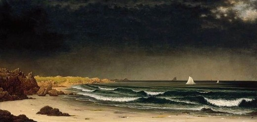 Storms at the beach aren't new, of course.  Martin Johnson Head painted this one in 1861 or 1862.