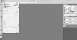 This is how you can open a new workspace in Photoshop.