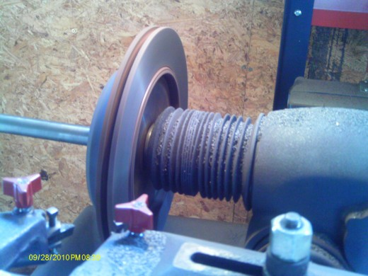 Smooth the rotor grooves with a lathe machine.