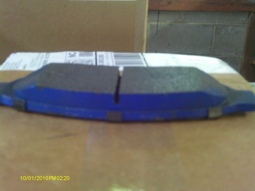 What brake pads look like brand new.