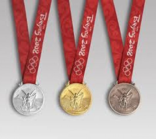 The Olympics recognizes only the top three finishers.