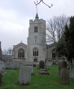 St. Nicholas's Church, Chiswick, London said to be haunted by Oliver Cromwell's daughters.