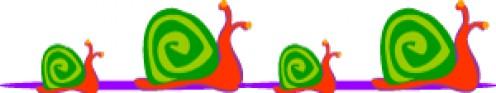 Garden Clipart Border: Snails