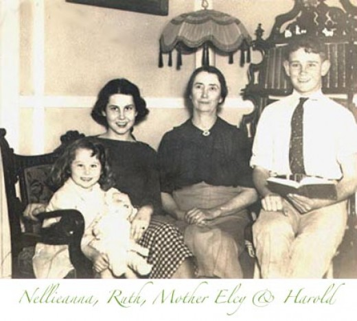 Circa about 1936, Del Rio, Texas.  In our house at 600 Garfield Street.  I still have that settee. My hair was auburn-brown & brown eyes with green centers.
