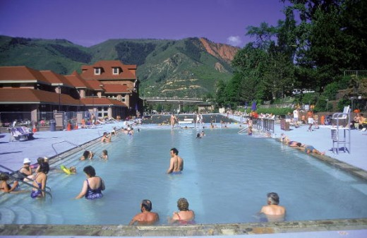 Hot springs lodge and pool, CO
