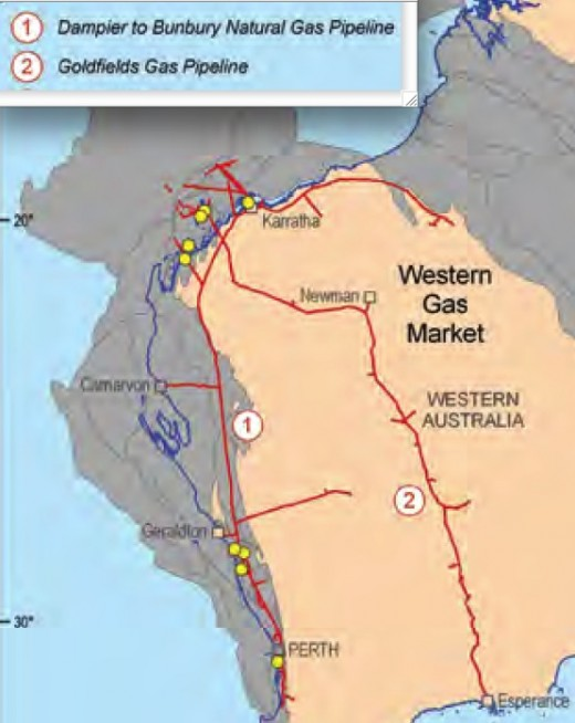 Western Australia has massive offshore gas resources and some exploration for coal seam gas has begun.