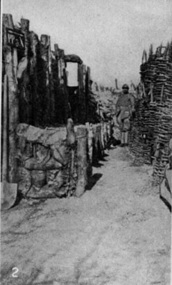 A firing trench and hand grenade post