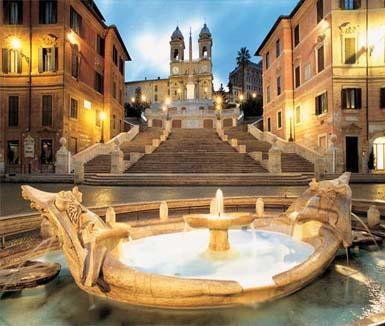 Scalinata della Trinità dei Monti in Rome, Italy.