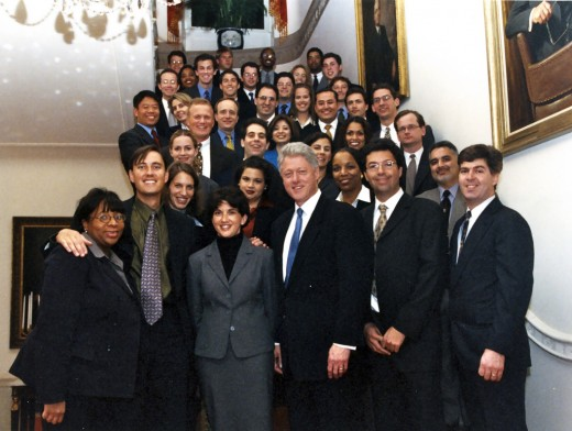 working for ONE MAN: former President Bill Clinton. Reckon what all these people do for Clinton? Would you care to guess?