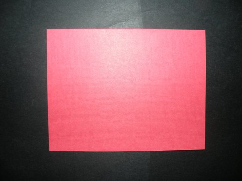 Cardstock card base