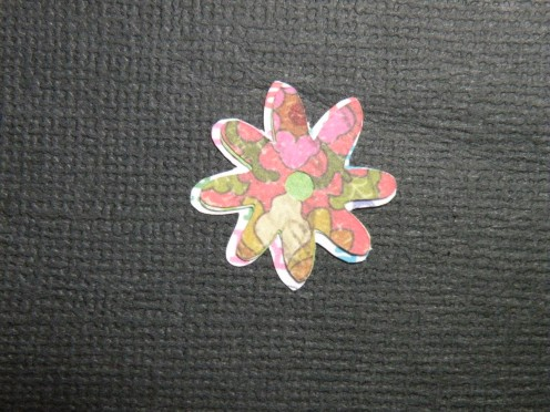 Small daisy layers adhered