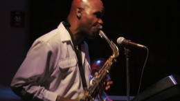 Jerry Blake, sings background vocals, plays sweltering sax and flute.