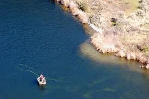Lake Fly Fisherman, Eastern Washington