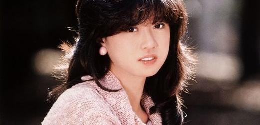 "Akina Nakamori promoting her third album, ""Fantasy""."