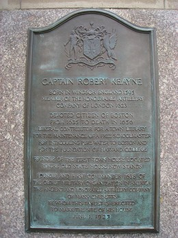 Plaque Commemorating Robert Keayne