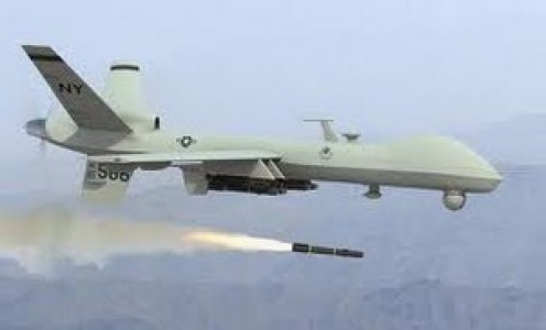 Predator B Launching hellfire missile