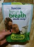 Tropiclean Fresh Breath Dental Chews