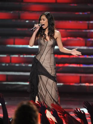 Jessica Sanchez during the AI Final Performance Night (Photo Credit: Michael Becker of Fox Broadcasting Co.)