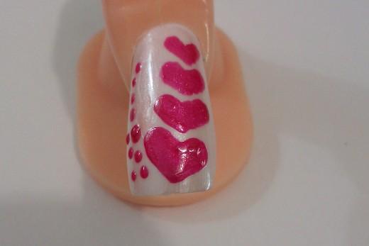 Diy nail art designs simple nail design with hearts