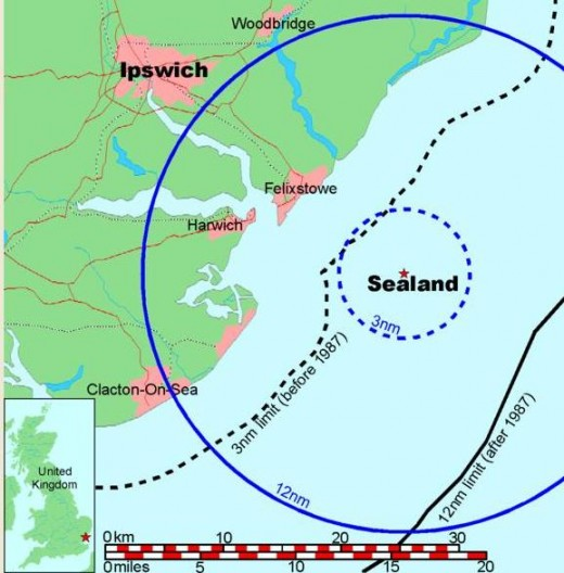 Map of Sealand