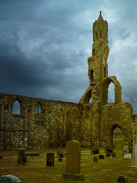 St. Andrews Cathedral in Fife, Scotland - a location with many ghosts and legends.