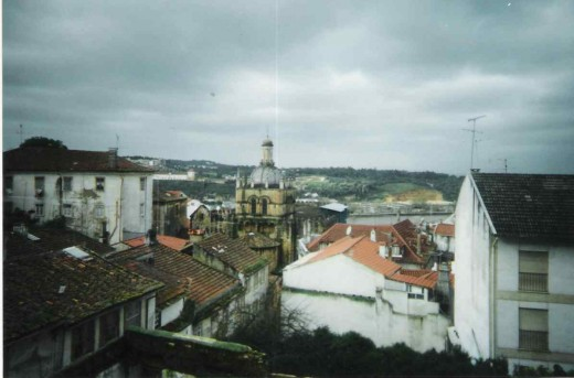 View of the city from Machado de Castro Museum, at a far distance a view of the Old Cathedral