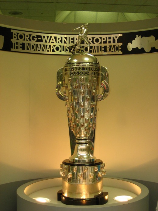 The Borg-Warner trophy bears the images of the winners of the Indianapolis 500.