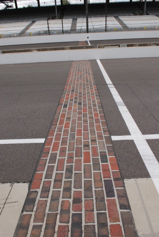 The last remaining bricks from the track surface.
