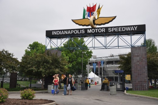 The entrance to the Indianapolis Motor Speedway