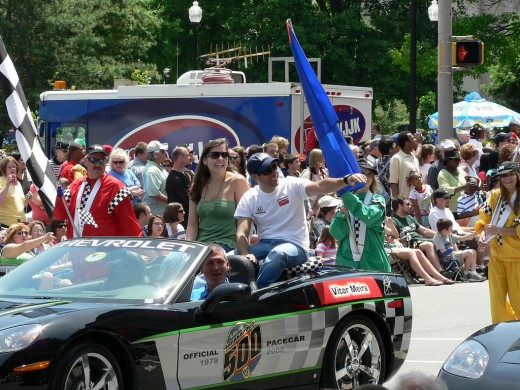 All 33 drivers ride in the 500 Festival Parade on Race Weekend.