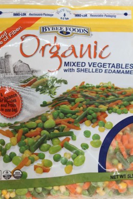 Frozen organic vegetables can save time and sometimes the only option.