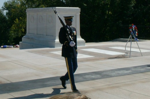 Changing of the guard, Tomb of the the Unknown Soldier,  Arlington National Cemetery
