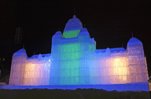 All ice! - an Ice Sculpture at the Sapporo Snow Festival (2009)