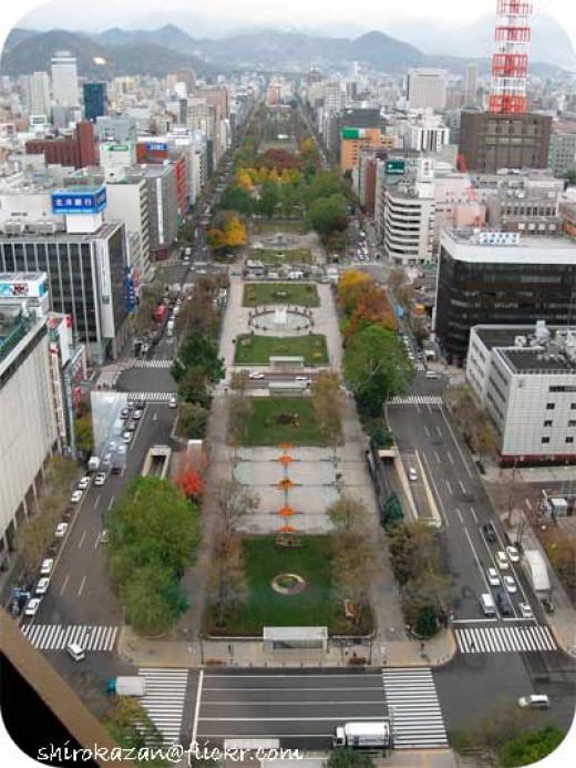Odori Park in the Summer