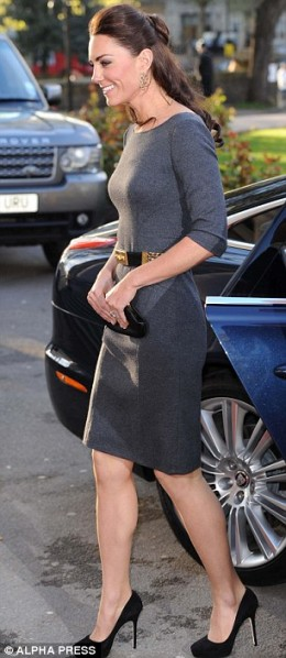 Amanda Wakely dress in gunmetal
