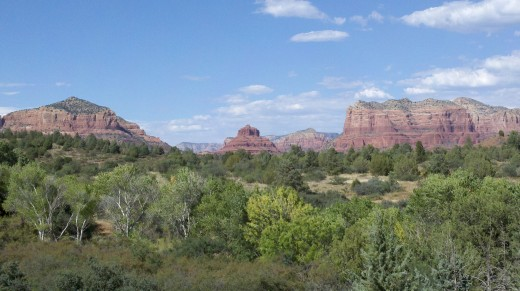 Red rock hills in Sedona Arizona