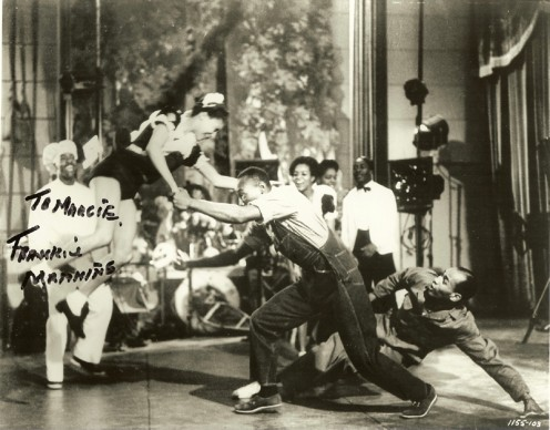 Frankie in a still from the film Hellzapoppin' in 1941 - added to Wikimedia with Frankie's consent.