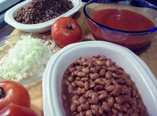 Chili ingredients.