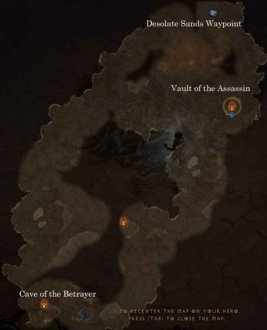 Diablo 3 Desolate Sands Map for this particular hero