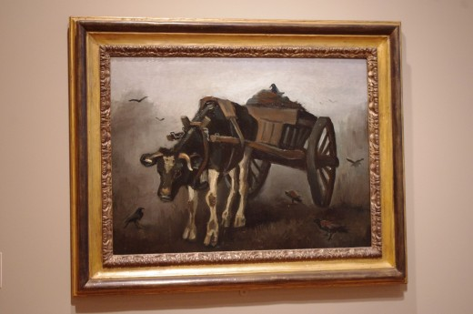 """Black Oxen"" by Vincent Van Gogh, 1884 ~ Portland Art Museum"