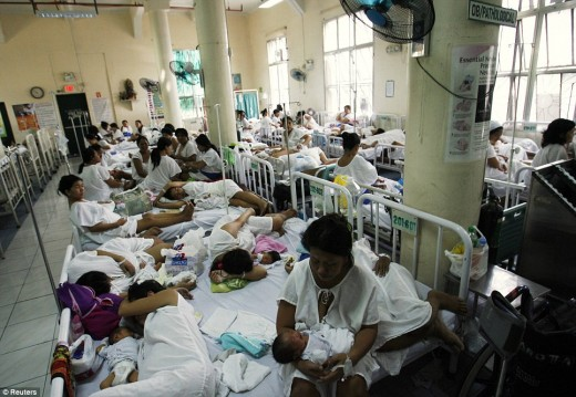 sharing hospital beds