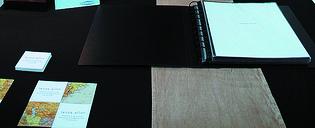 Example of a binder portfolio presentation.