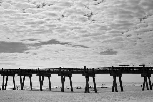 Pensacola Beach Fishing Pier-- A local spot that I re-interpreted as an interesting travel photograph.