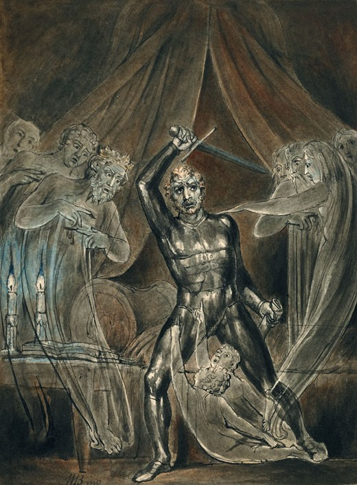 "Henry Fuseli & William Blake — Masters of Gothic Romanticism (specifically this link); the painting was published in:Selincourt, Basil De (1909) ""Blake's Madness "" in William Blake London: Duckworth and Co , pp. p. 59"