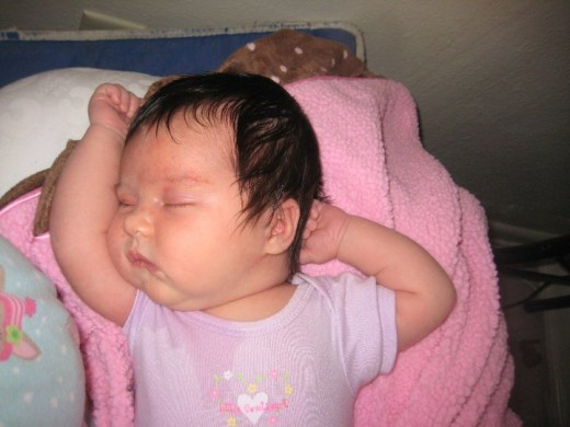 My daughter, 4 days old.