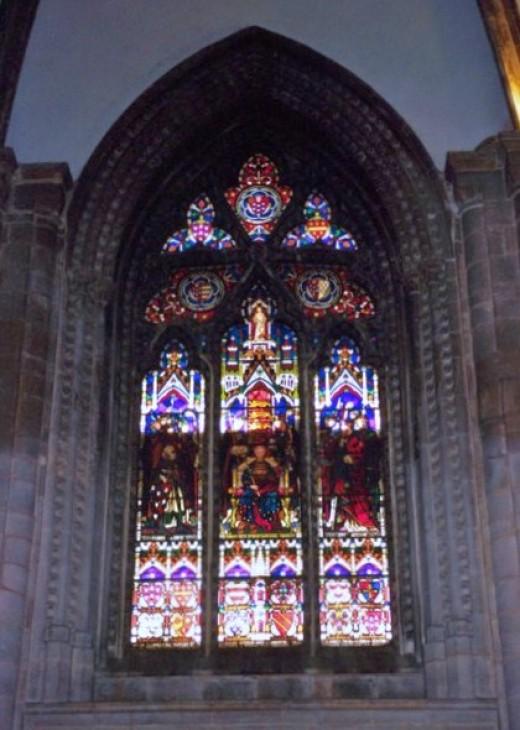 Window commemorates coronation of Henry II