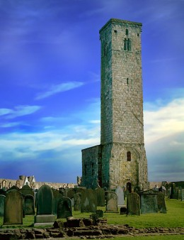 St. Rules Tower of St Andrew's Cathedral. One of the many locations within the ruins that has had supernatural events.