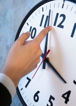 Turning back the hands on a clock won't make time go backwards.