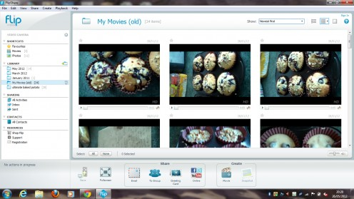 Flip Ultra also has a gallery facility for easy video editing.