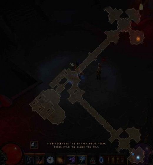 Diablo 3 Map of Storm Halls for this hero